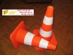 Rubber flexible road warning cone