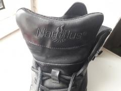 Very cool Nautilus sneakers with a metal sock-protection